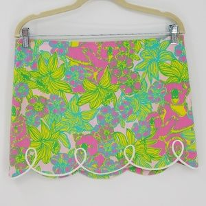 Lilly Pulitzer Floral Scallop Edge Tate Skirt